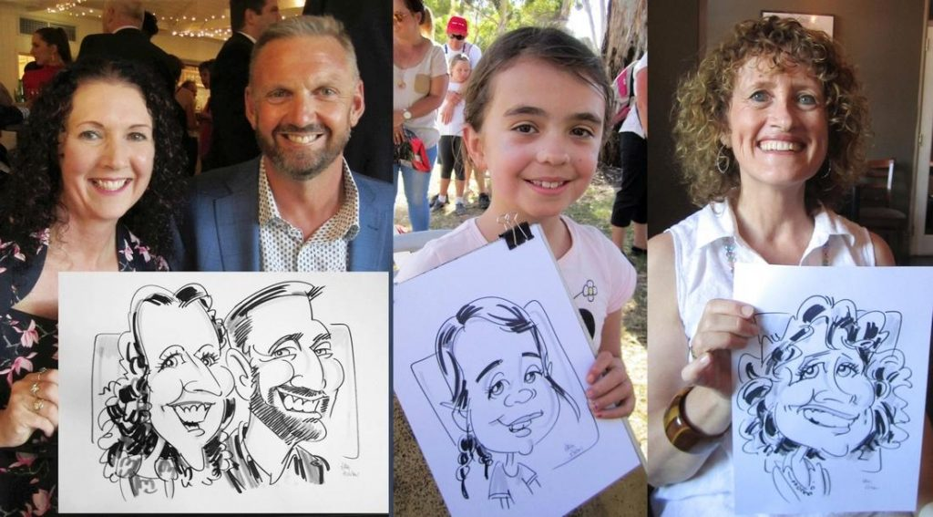 Looking for something different for a party? These guests enjoy their caricatures.