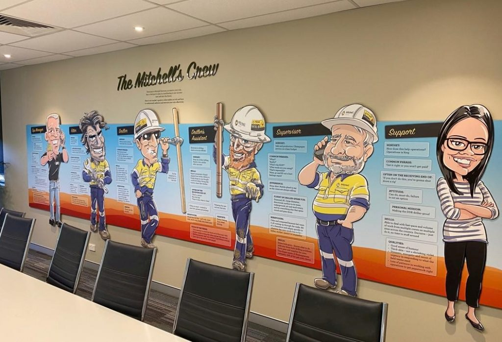 Mitchell's understand the benefit of cartoons for the corporate sector